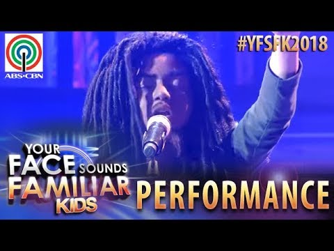 Your Face Sounds Familiar Kids 2018: Noel Comia Jr. as Bob Marley | Waiting In Vain
