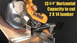 "Dewalt Dws780 12""  Miter Saw Has The Largest Total Capacity Of Any Miter Saw On The Market"