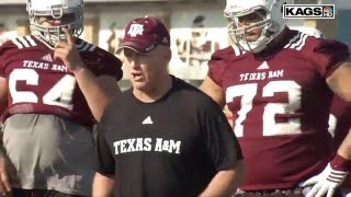 Texas A&M 2016 Spring Practice Day 2 Highlights
