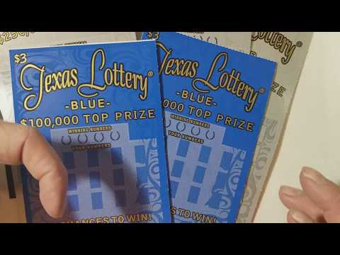 WOW! BRAND NEW!!! BLACK, SILVER AND BLUE! TEXAS LOTTERY SCRATCH OFF TICKETS