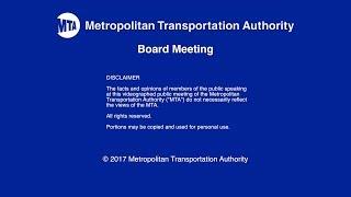 MTA Board - 12/13/2017 Live Webcast
