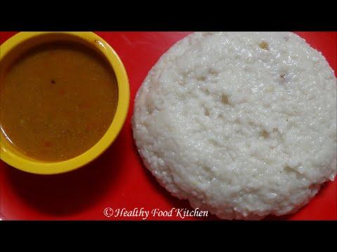 Arisi Kanji Recipe -Vendhaya Varagu Arisi Kanji-Coconut Milk Kodo Millet Porridge for Fever & Cold