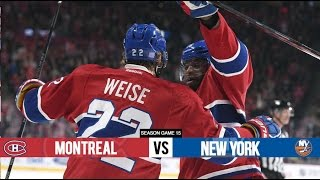 Montreal Canadiens vs New York Islanders - Season Game 15 - All Goals (5/11/15)