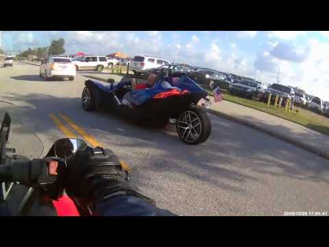 My Can-Am SpYder F3-S and a Polaris Slingshot getting some looks.