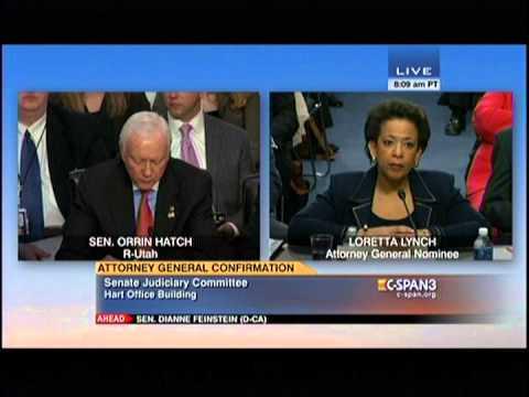 Senator Hatch questions AG nominee Loretta Lynch