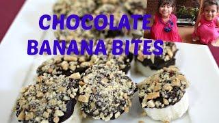 Simple CHOCOLATE BANANA BITES Recipe with Hanna and Mia