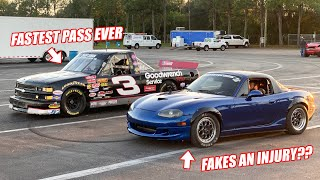 NITROUS NASCAR Truck FREEDOMS So Hard Its Opponent Literally ****'s Itself... (RIP Miata)