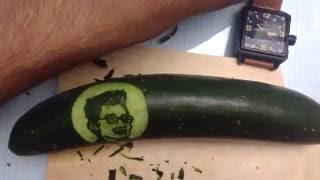 Baixar Happy Birthday Ridwan Kamil | Cucumber Food Art Portrait Carving