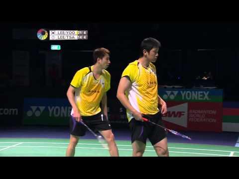 2014 THE STAR AUSTRALIAN BADMINTON OPEN-F-MD-Lee YD/Yoo YS (KOR) [4] VS Lee SM/Tsai CH (TPE) [3]