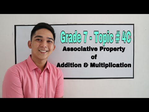 Grade 7 l Topic 4C - Properties of Real Numbers ( Associative Property )