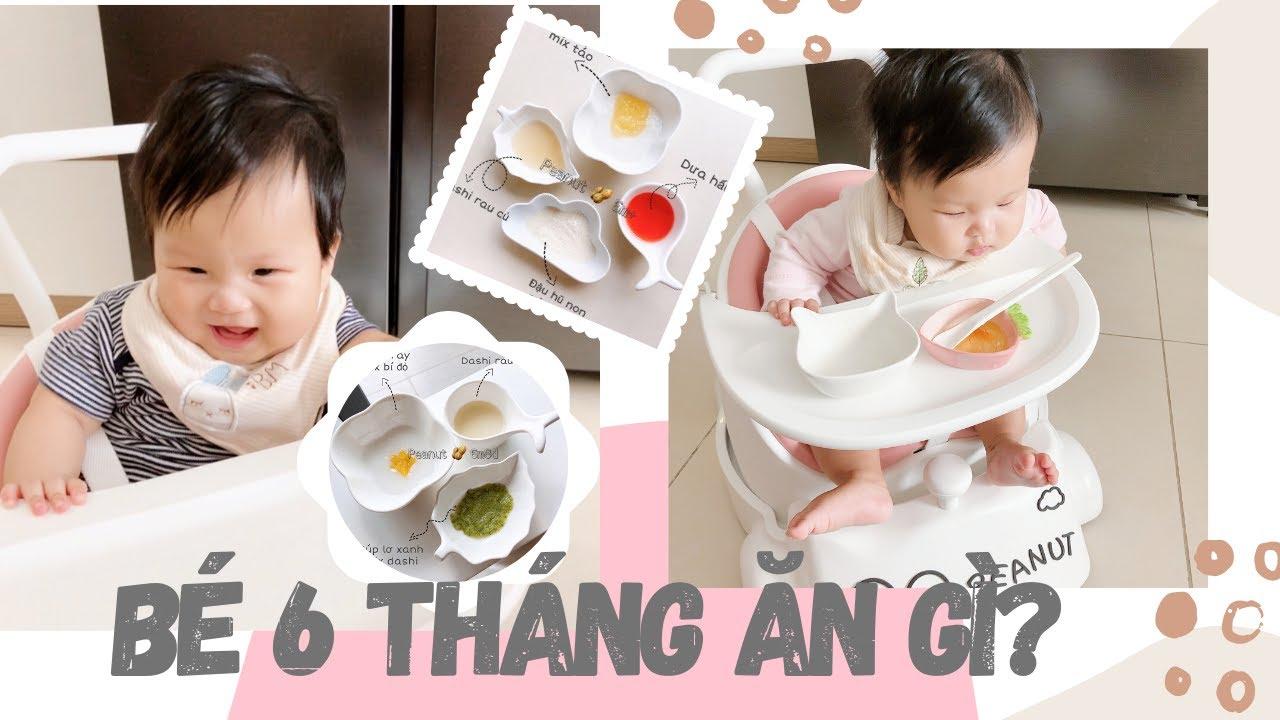 Thực Đơn Ăn Dặm Kiểu Nhật cho bé 6 tháng tuổi// Peanut Ăn Dặm (tập 8)