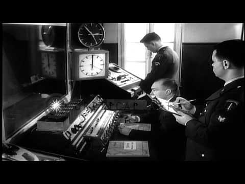Music played during a radio broadcast in AFN Armed Forces Network studio in FraHD Stock Footage