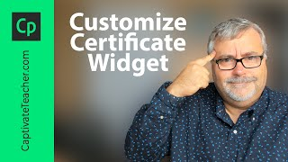 Customize Adobe Captivate Certificate Widget