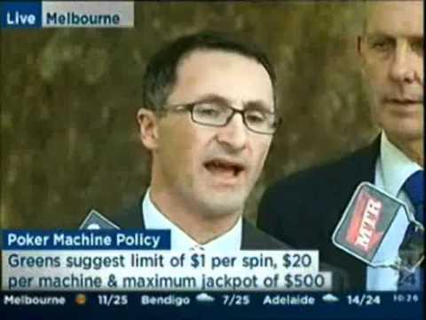 Greens announce pokies circuit breaker - press conference