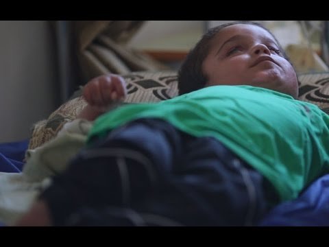 Disabled Yazidi boy rescued from Iraq's Mount Sinjar