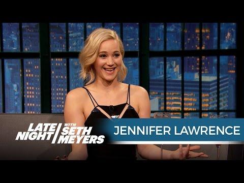 Jennifer Lawrence Just Shot a Sex Scene with Chris Pratt – Late Night with Seth Meyers