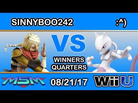 MSM 110 - NA | Sinnyboo242 (Sheik) Vs. 4BUN | :^) (Mewtwo) Winners Quarters