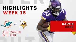 Dalvin Cook's Double-TD Day vs. Dolphins!