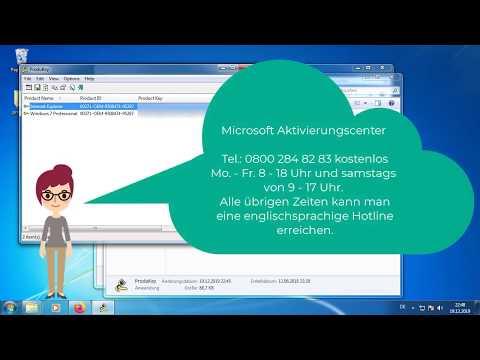 Windows 7 Produktschlüssel (Product Key) Auslesen.