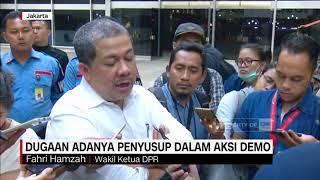Fahri Hamzah Bicara Soal Dugaan Adanya Penyusup dalam Aksi Demo