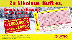 Bundesweite Nikolaus Sonderauslosung 2018