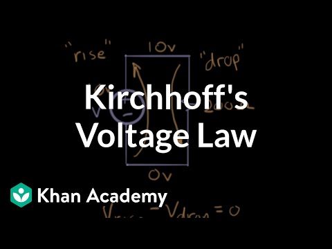 Kirchhoff's voltage law | Circuit analysis | Electrical engineering | Khan Academy