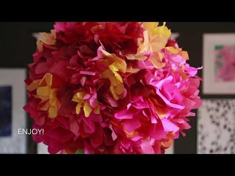 DIY Flower Paper Lantern with Aunt Peaches