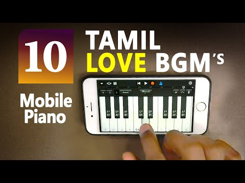 Best Tamil BGM's on Mobile Piano with Notes | Tamil Love bgm piano | Garageband Mobile Piano