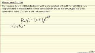 Kinetics: Reaction Time 2 (Review)