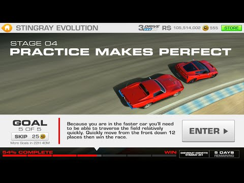 Stingray Evolution Stage 04 Goal 5 Of 5 Real Racing 3 Corvette Z51
