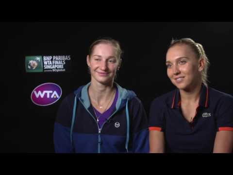 2016 WTA Finals Singapore Doubles Final: E. Makarova & E. Vesnina Post Match Interview