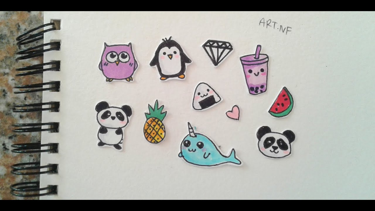 DIY Tumblr stickers (drawings) - YouTube