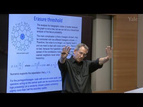 "John Preskill  ""Holographic Quantum Codes"""