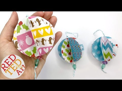 3d Paper Ornaments DIY - Christmas Tree Ornaments