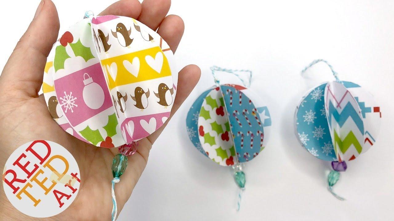 3d Paper Ornaments Diy Christmas Tree Ornaments