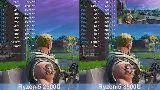 AMD Ryzen 5 2500U vs Ryzen 5 3500U - Fortnite: Battle Royale  - Benchmark Comparison