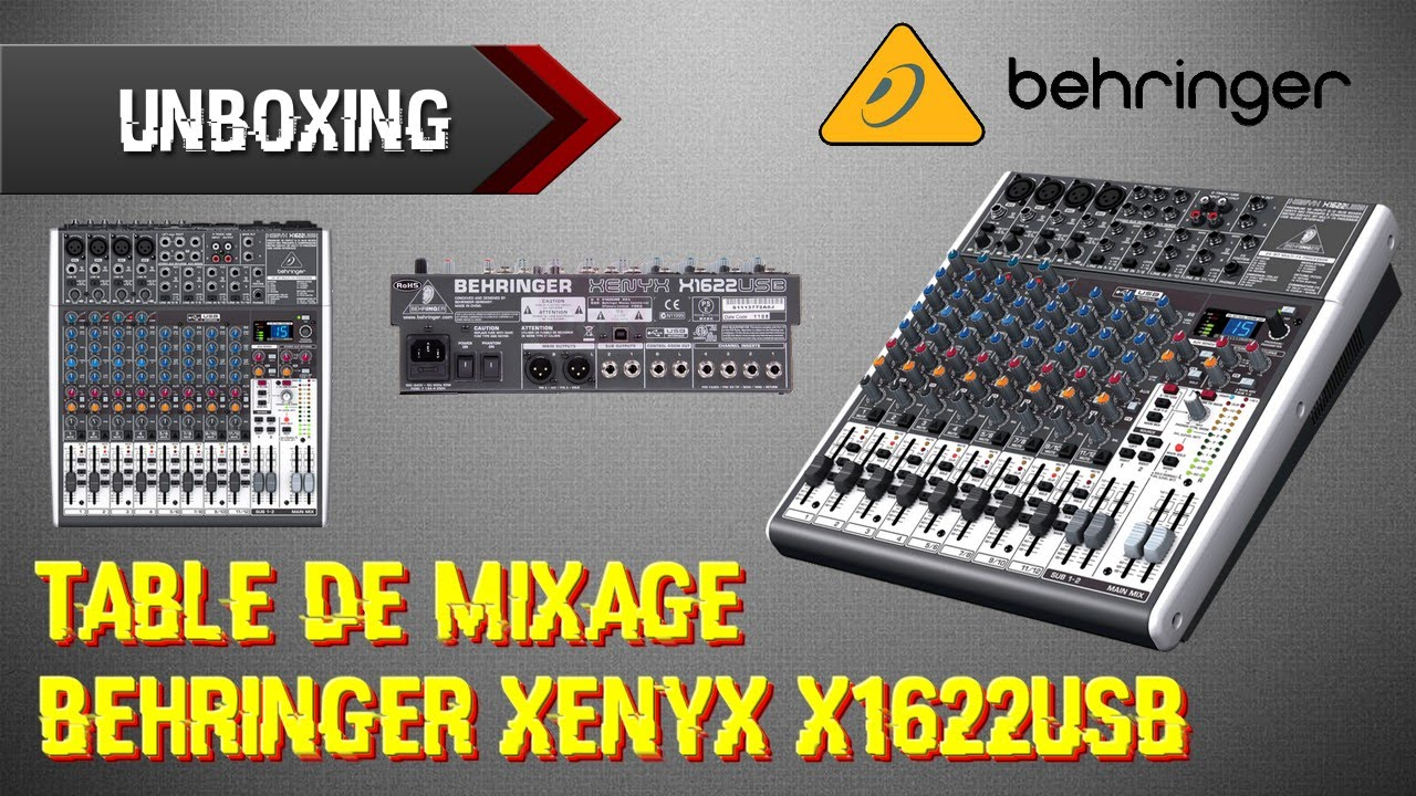 table de mixage xenyx x1622usb