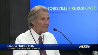 Emergency service officials discuss response to flash flooding