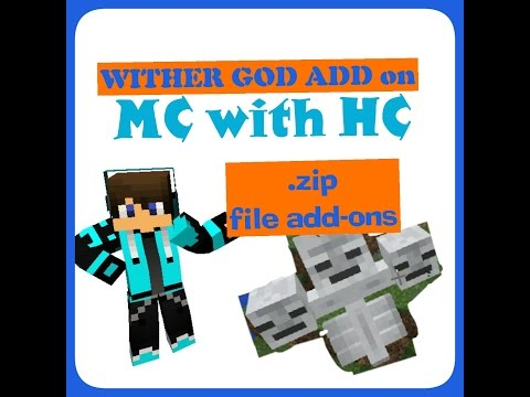 Download & Install Add Ons(.zip File Type)[Minecraft PE 16.0 And Up ]~ WITHER GOD ADD ON