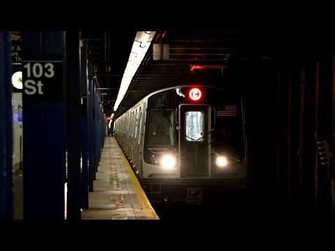 MTA New York City Subway : R179 Test Train 3050-3057 Testing Along The C Line @ 103rd Street