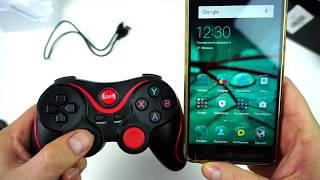Беспроводной Bluetooth геймпад для Андроид и ПК - Джойстик для игр -  подключение и тест в игре !!!