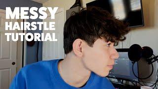 The EASIEST Messy Hąir Tutorial | Mens Hair Tutorial