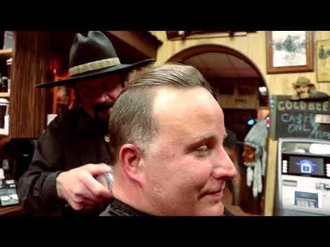 Lawyer Getting  A Fresh Haircut- Cliffs Barber Corral Tutorial 18