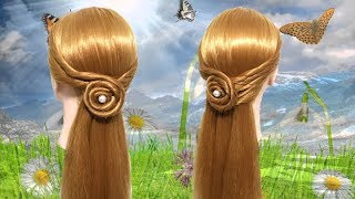 Cute daily juda hairstyle using clutcher 💖 Hair style girl 🌸 Easy hairstyles 🌵 Cute hairstyles