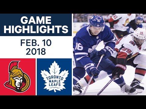 NHL Game Highlights | Senators vs. Maple Leafs - Feb. 10, 2018