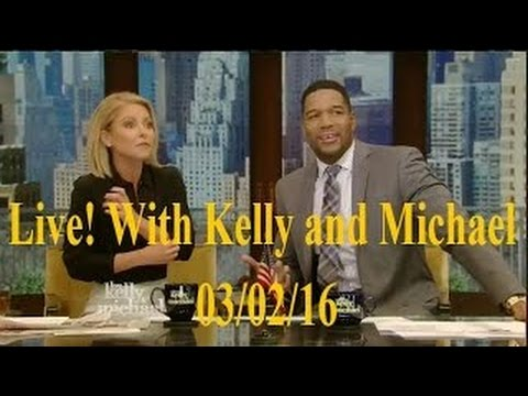 """Live! With Kelly and Michael 03/02/16 Joan Allen (""""The Family""""); Laura Prepon"""