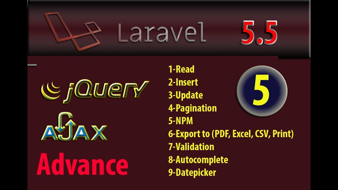 Laravel 5 5 Advance Datatable With NPM Installer part 5