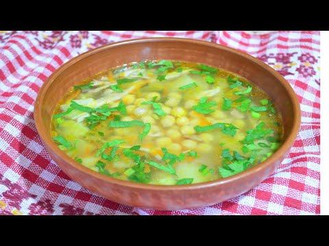 Суп с горохом нут и курицей