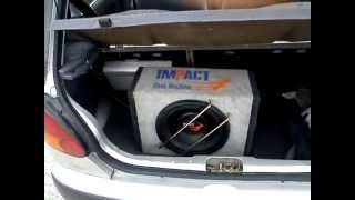 "Daewoo matiz Car audio Casse ciare Sub impact, ""narcotic remix"" Tuning"