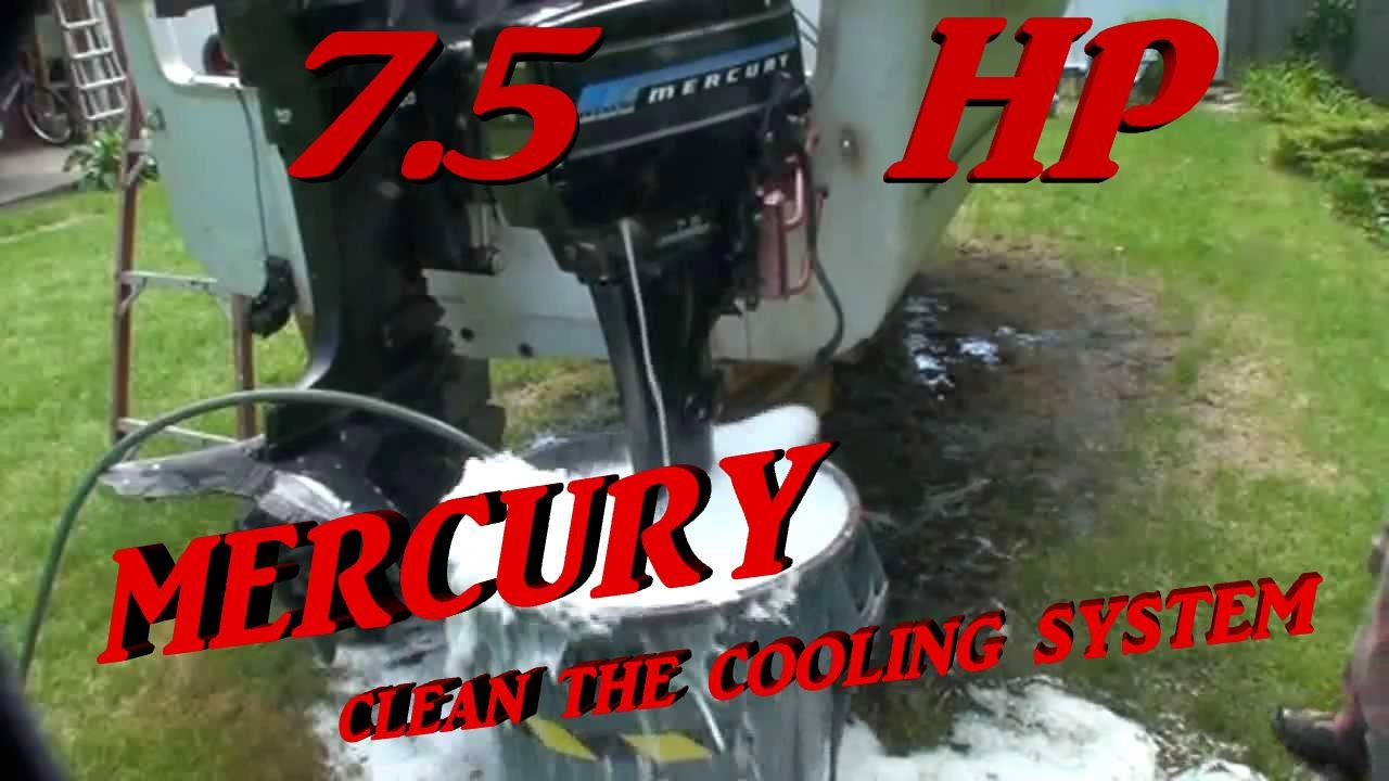 outboard engines clean cooling system youtube rh youtube com mercury outboard cooling system mercury outboard motor cooling system diagram